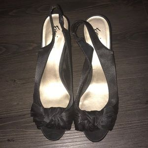 Fioni Night Black Heels